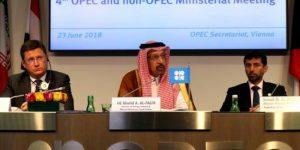 بيان انخفاض انتاج النفط يناقشه اوبك وشركائها الآن